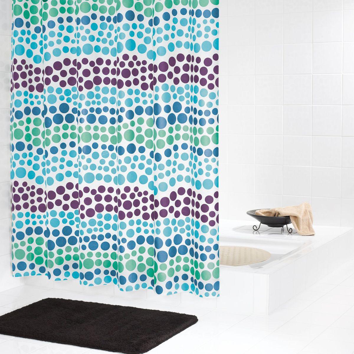 """Высококачественная немецкая шторка Ridder """"Layer"""" создаст прекрасное настроение в ванной комнате.  Данное изделие имеет водоотталкивающее покрытие и усиленный верхний кант. Кольца не входят в комплект."""