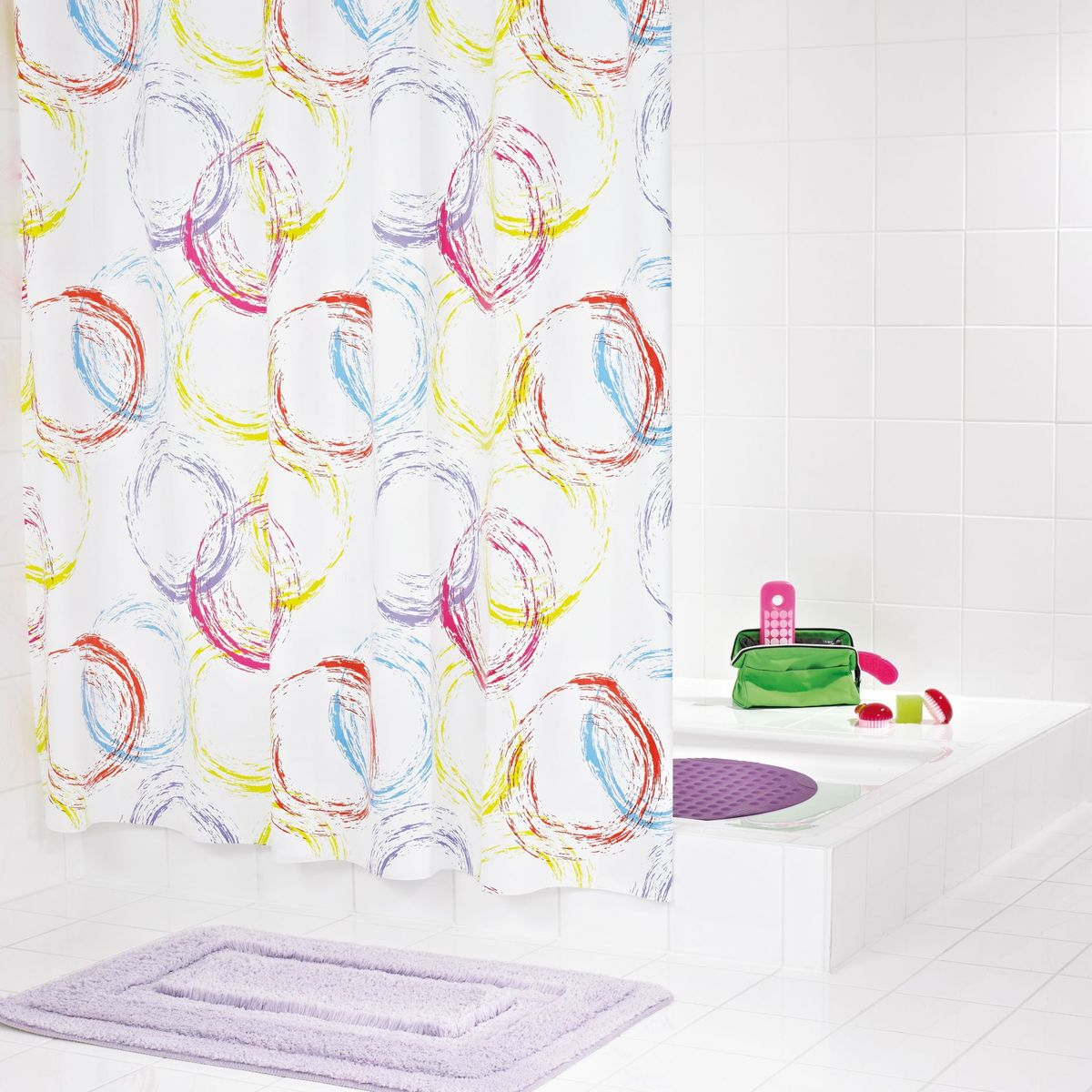 Штора для ванной комнаты Ridder Party, 180 х 200 см шторы для ванной ridder штора для ванных комнат fleur оранжевый 180 200