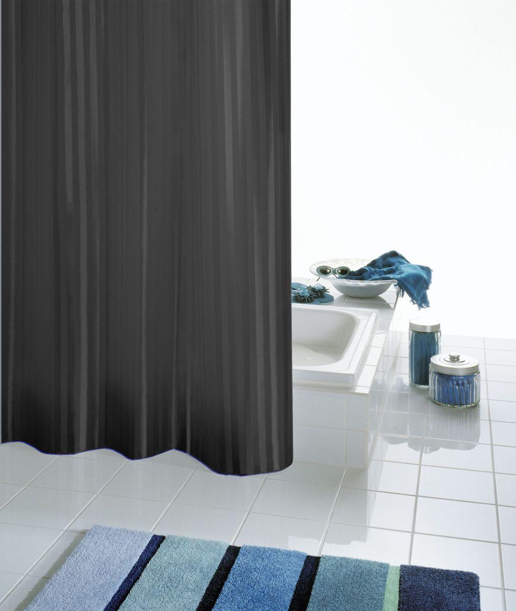 Штора для ванной комнаты Ridder Satin, цвет: черный, 180 х 200 см двойная штора для ванной