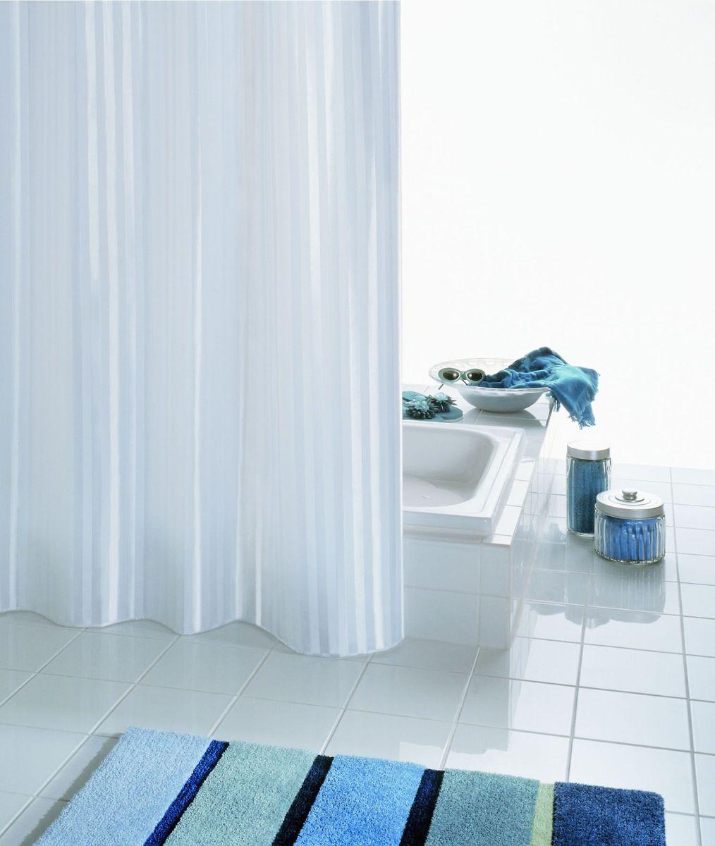 """Высококачественная немецкая шторка Ridder """"Satin"""" создаст прекрасное настроение в ванной комнате. Данное изделие имеет антигрибковое, водоотталкивающее и антистатическое покрытие и утяжеленный нижний кант. Машинная стирка. Глажка при низкой температуре."""