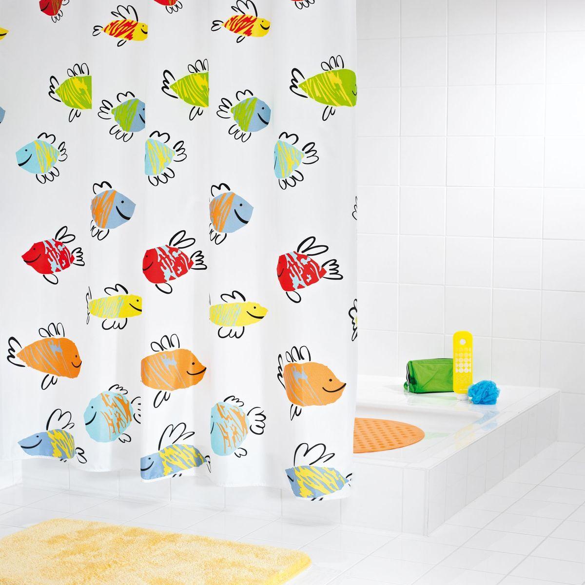 Штора для ванной комнаты Ridder Malawi, цвет: белый, мультиколор, 180 х 200 см mosambik malawi 1 1 200 000