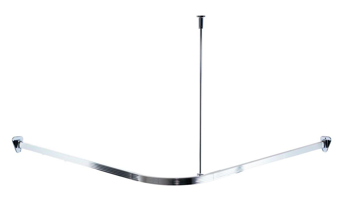 Высококачественная немецкая штанга выполнена из алюминия. Крючки для штор вставляются в нижние полозья. Размер: 90 х 90 см. Для предотвращения царапин на штангу из спрессованного алюминия наносится специальное покрытие. Установка данной штанги требует сверления. Комплект: штанга - 2 шт штанга потолочная - 1 шт угловой соединитель - 1 шт крепление к стене - 2 шт саморез+дюбель - 6 шт