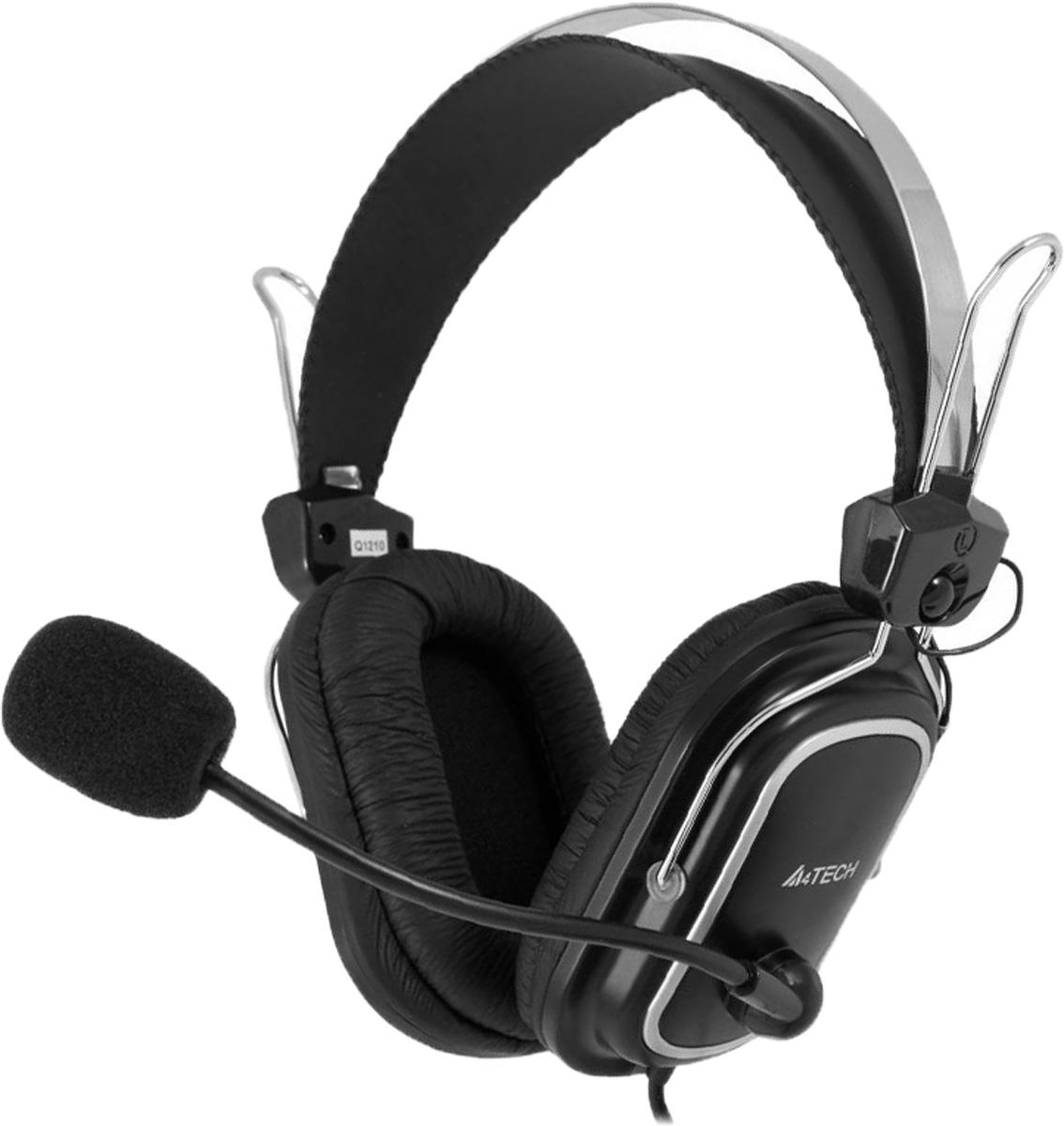 A4Tech HS-50, Black компьютерная гарнитура a4tech hs 50