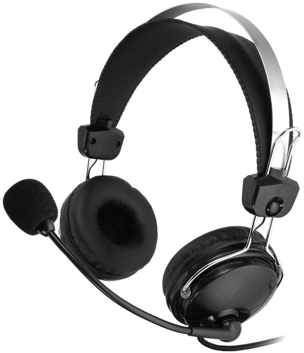 A4Tech HS-7P, Black компьютерная гарнитура микрофон a4tech mi 10