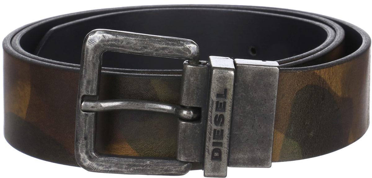 где купить Ремень мужской Diesel, цвет: темно-коричневый. X04173-P1074. Размер 90 по лучшей цене