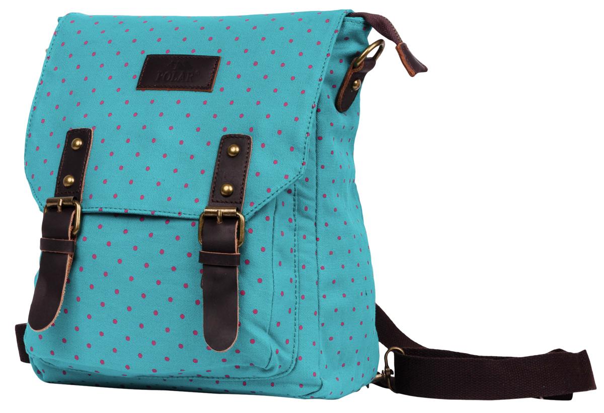 Рюкзак городской женский Polar Adventure, цвет: бирюзовый, розовый, 8,65 л. 1510-09 green рюкзак polar polar po001burvn31