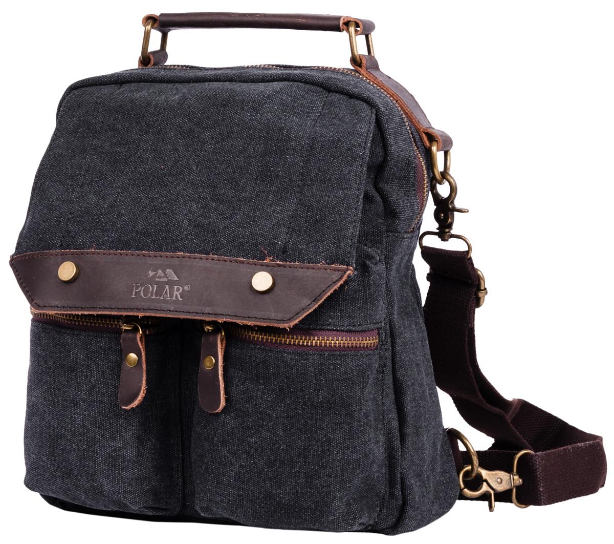Рюкзак городской Polar  Adventure , цвет: темно-серый, 7,3 л. п1449-05 black - Рюкзаки