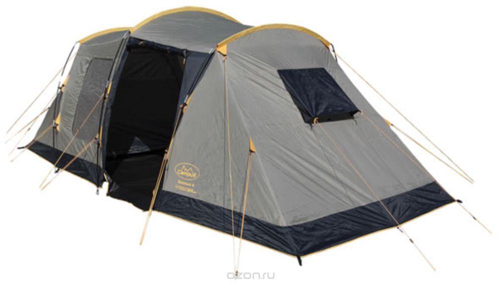 Палатка Campus Bordeaux 4, цвет: бежевый, графитовый, желтый