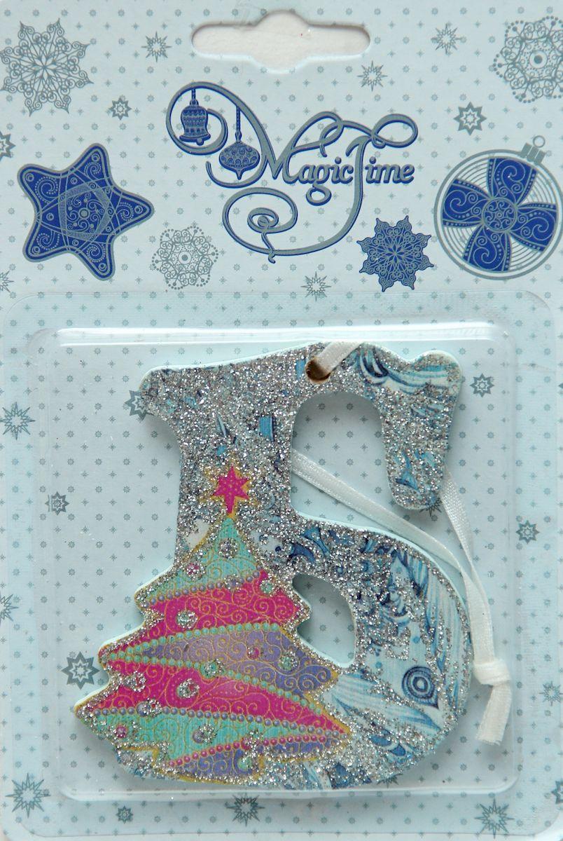 Украшение новогоднее подвесное Magic Time Б, 8 х 7 см украшение новогоднее magic time дед мороз и медвежонок со светодиодной подсветкой 12 x 8 x 3 см
