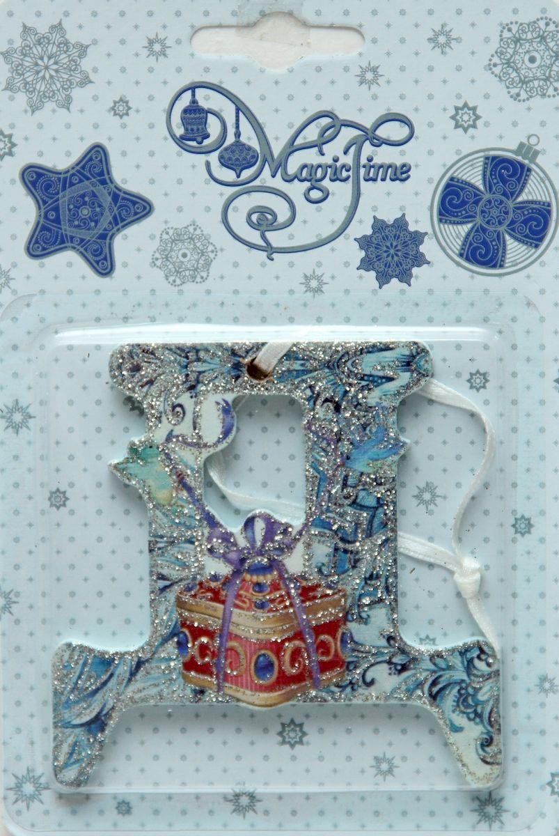 Украшение новогоднее подвесное Magic Time Д, 8 х 8 см украшение новогоднее magic time дед мороз и медвежонок со светодиодной подсветкой 12 x 8 x 3 см