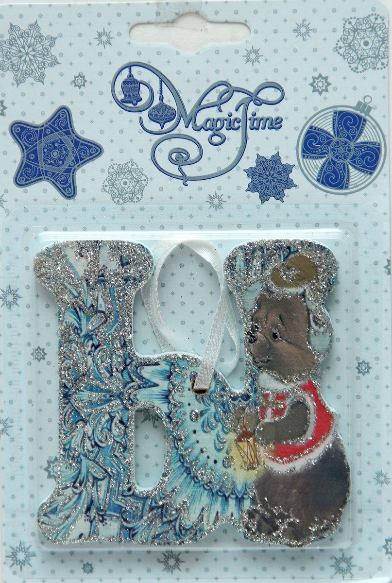 Украшение новогоднее подвесное Magic Time Ы, 8 х 8 см украшение новогоднее magic time дед мороз и медвежонок со светодиодной подсветкой 12 x 8 x 3 см