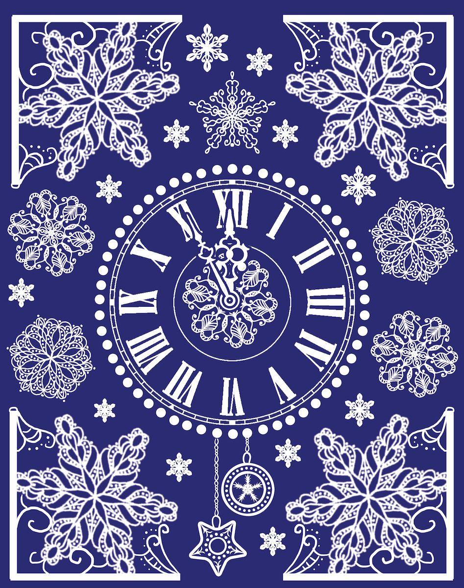 Новогоднее оконное украшение Magic Time поможет украсить дом к предстоящим праздникам. Яркие изображения в виде циферблата и снежинок нанесены на прозрачную пленку и крепятся к гладкой поверхности стекла посредством статического эффекта. Рисунки декорированы блестками. С помощью этих украшений вы сможете оживить интерьер по своему вкусу. Новогодние украшения всегда несут в себе волшебство и красоту праздника. Создайте в своем доме атмосферу тепла, веселья и радости, украшая его всей семьей. Размер украшения: 30 х 38 см.