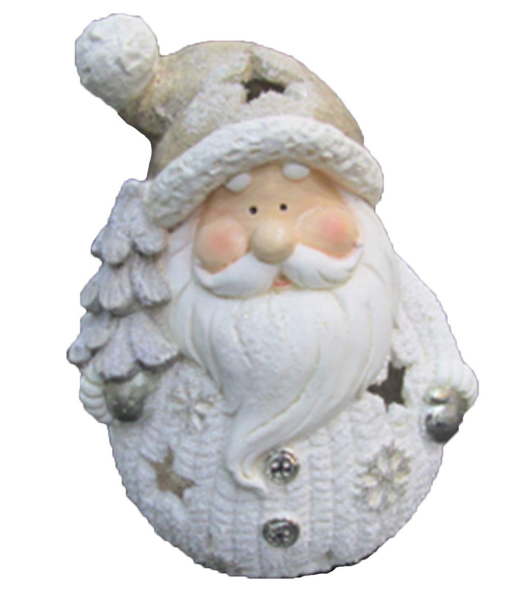 Новогодний подсвечник Magic Time «Дед Мороз с елочкой» из  стекломагнезита, украсит интерьер  вашего дома или офиса в преддверии Нового года. Оригинальный дизайн и красочное  исполнение создадут праздничное настроение. Подсвечник выполнен в виде Деда Мороза  с елочкой в руках. С оборотной стороны подсвечника есть  отверстие, куда устанавливается свеча. Через небольшие прорези свет свечи будет проникать наружу и озарять собой все вокруг.  Подсвечник можно поставить в любом месте, где он будет хорошо смотреться, и  радовать глаз. Кроме того, это отличный вариант подарка для ваших близких и друзей. Материал: стекломагнезит без обжига (80% оксид магния, 10% стекловолокно, 9%  вода, пластификаторы менее 1%).