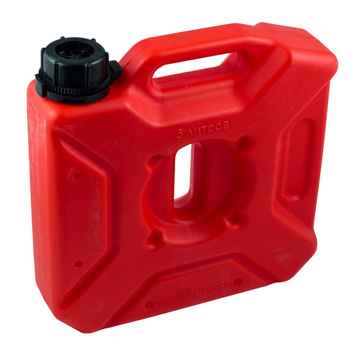 Канистра автомобильная Экстрим Плюс, цвет: красный, 5 л канистра пластиковая для гсм 10л 62 4 009