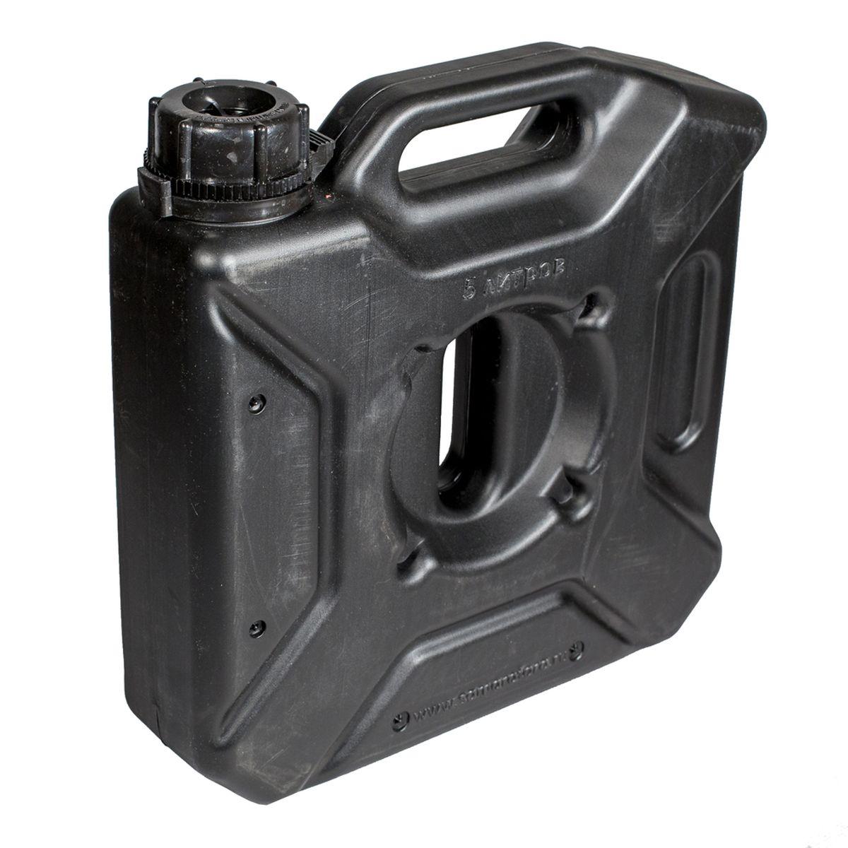 Канистра автомобильная Экстрим Плюс, цвет: черный, 5 л канистра пластиковая для гсм 10л 62 4 009