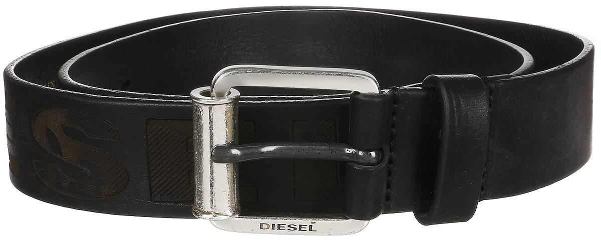 Ремень мужской Diesel, цвет: черный. X03966-P0180. Размер 105 семь волков septwolves мужской кожаный ремень прилив мужской серии автоматическая пряжка пояса 7a519097000 1 brown