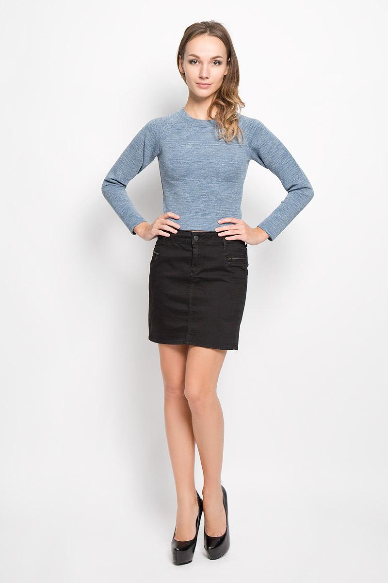 Свитшот женский Glamorous, цвет: серо-синий. CK2924. Размер M (46) джинсы glamorous glamorous gl008ewqpj48