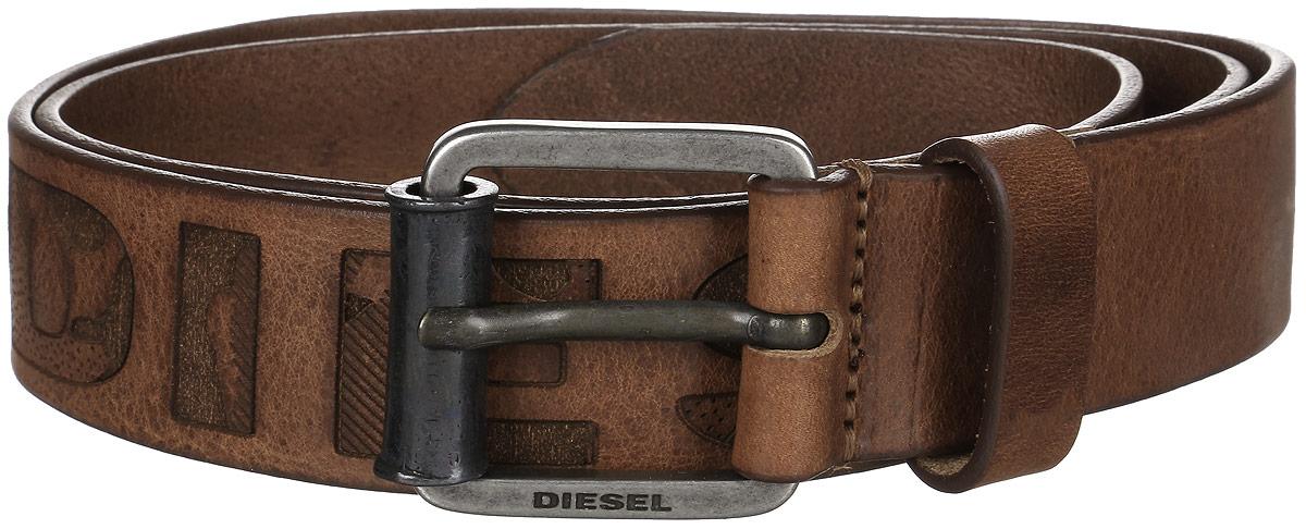 где купить Ремень мужской Diesel, цвет: коричневый. X03966-P0180. Размер 95 по лучшей цене