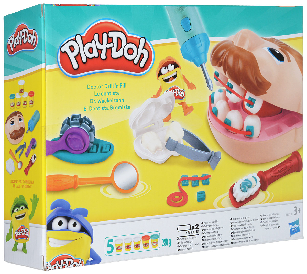 Play-Doh Игровой набор Мистер Зубастик, с пластилином игровой набор с пластилином play doh a7401 праздничный торт