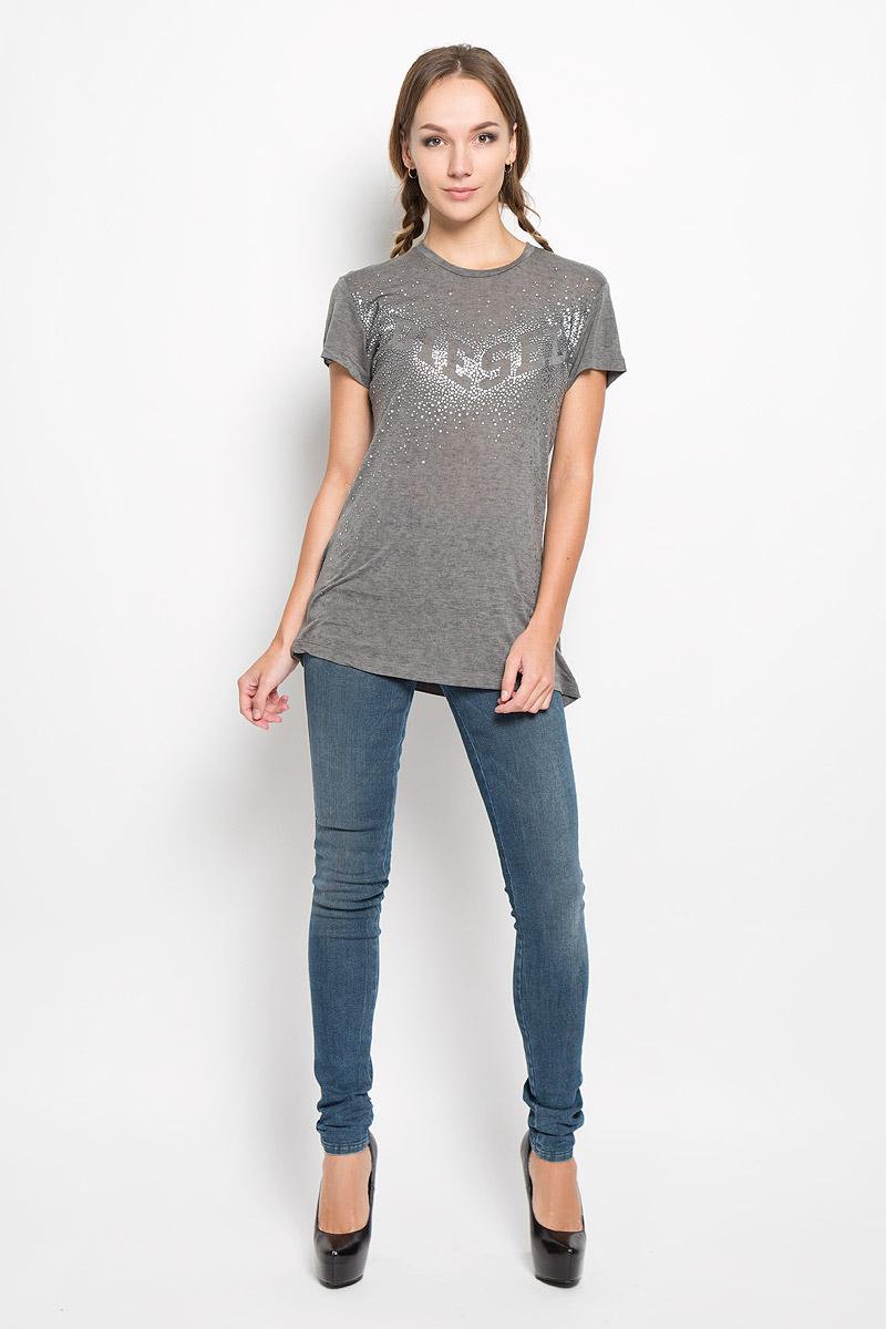 Футболка женская Diesel, цвет: темно-серый. 00SSUN-0WADY. Размер XL (50) футболка женская diesel цвет черный 00srtx 0qaml размер xl 50