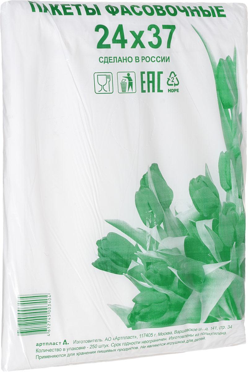 Пакет фасовочный Артпласт Тюльпаны зеленые, 24 х 37 см, 250 шт