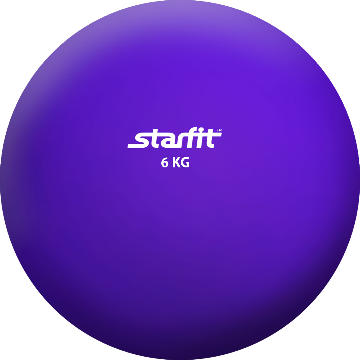 Медицинбол Starfit GB-703, цвет: фиолетовый, 6 кг эспандеры starfit эспандер starfit es 702 power twister черный 50 кг