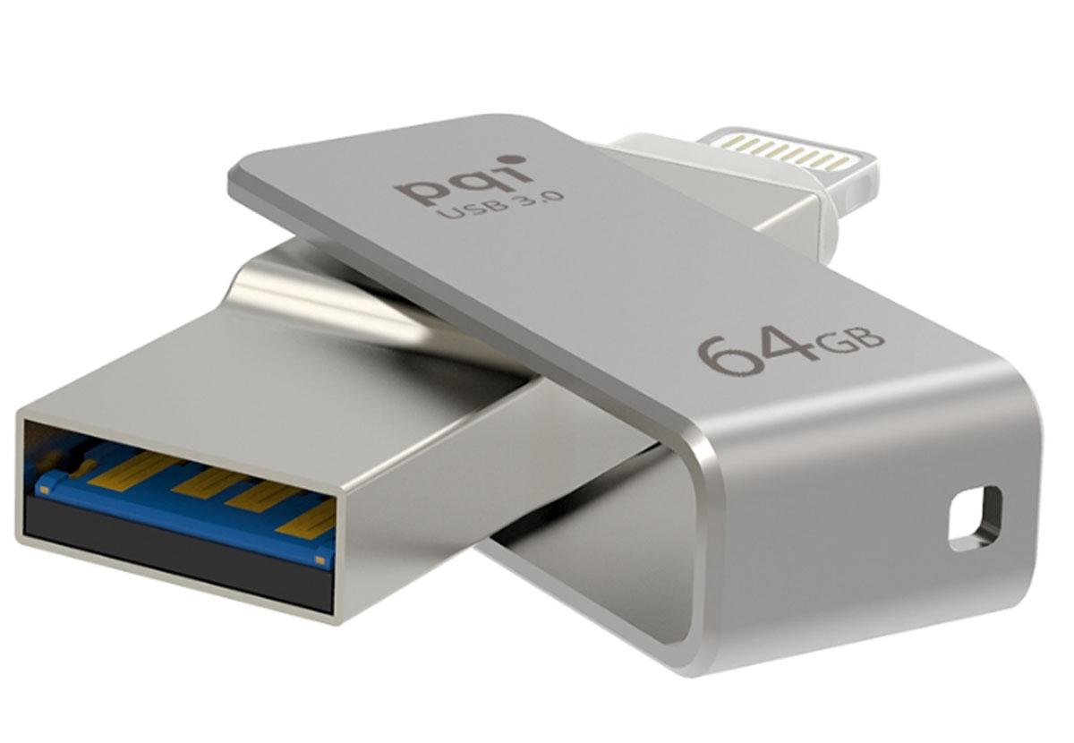 PQI iConnect mini 64GB, Gray флеш-накопитель - Носители информации