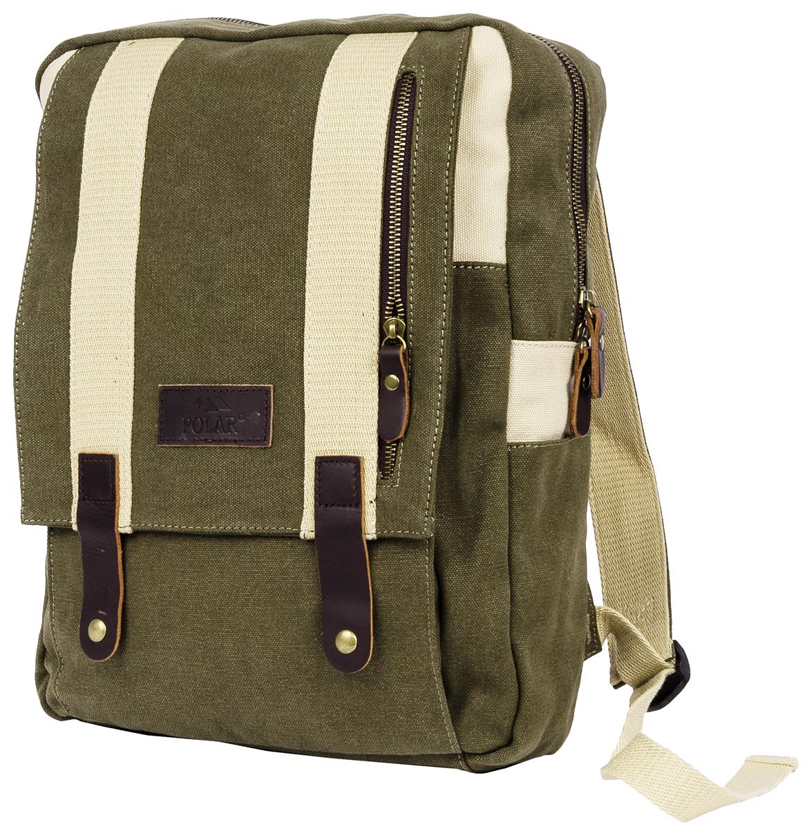 Рюкзак городской мужской Polar Adventure, цвет: оливковый, бежевый, 10 л. п2016-09 green