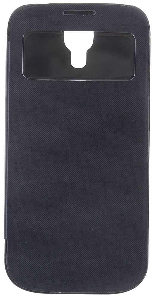EXEQ HelpinG-SF07 чехол-аккумулятор для Samsung Galaxy S4, Black (2600 мАч, Smart cover, флип-кейс) exeq helping sc02 чехол аккумулятор для samsung galaxy s4 white 3300 мач клип кейс