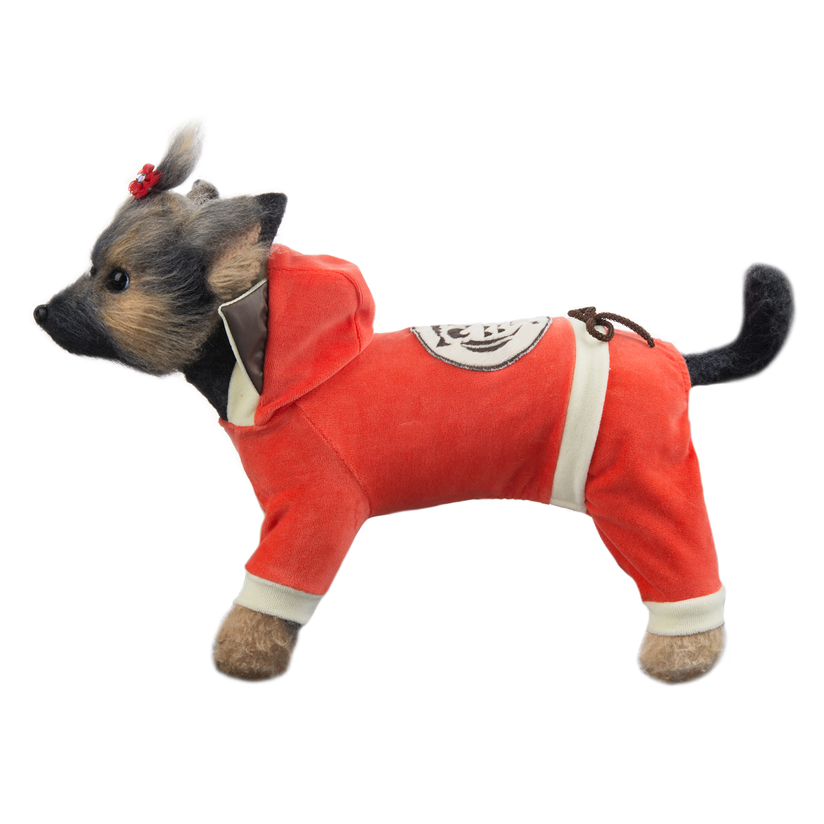 """Комбинезон для собак Dogmoda """"Сова"""", унисекс, цвет: оранжевый, бежевый. Размер 2 (M)"""
