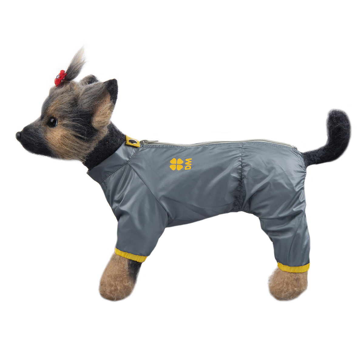 "Комбинезон для собак Dogmoda ""Тревел"", унисекс, цвет: серый, желтый. Размер 4 (XL)"