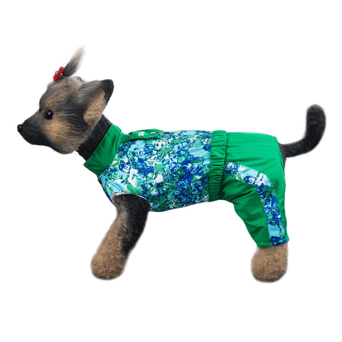 Комбинезон для собак Dogmoda Грин, унисекс, цвет: зеленый, синий, белый. Размер 4 (XL)