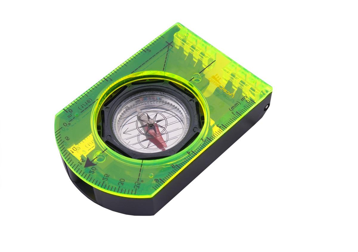 Компас  AceCamp  складной, с зеркалом, цвет: черный, зеленый. 3109 - Компасы и Курвиметры