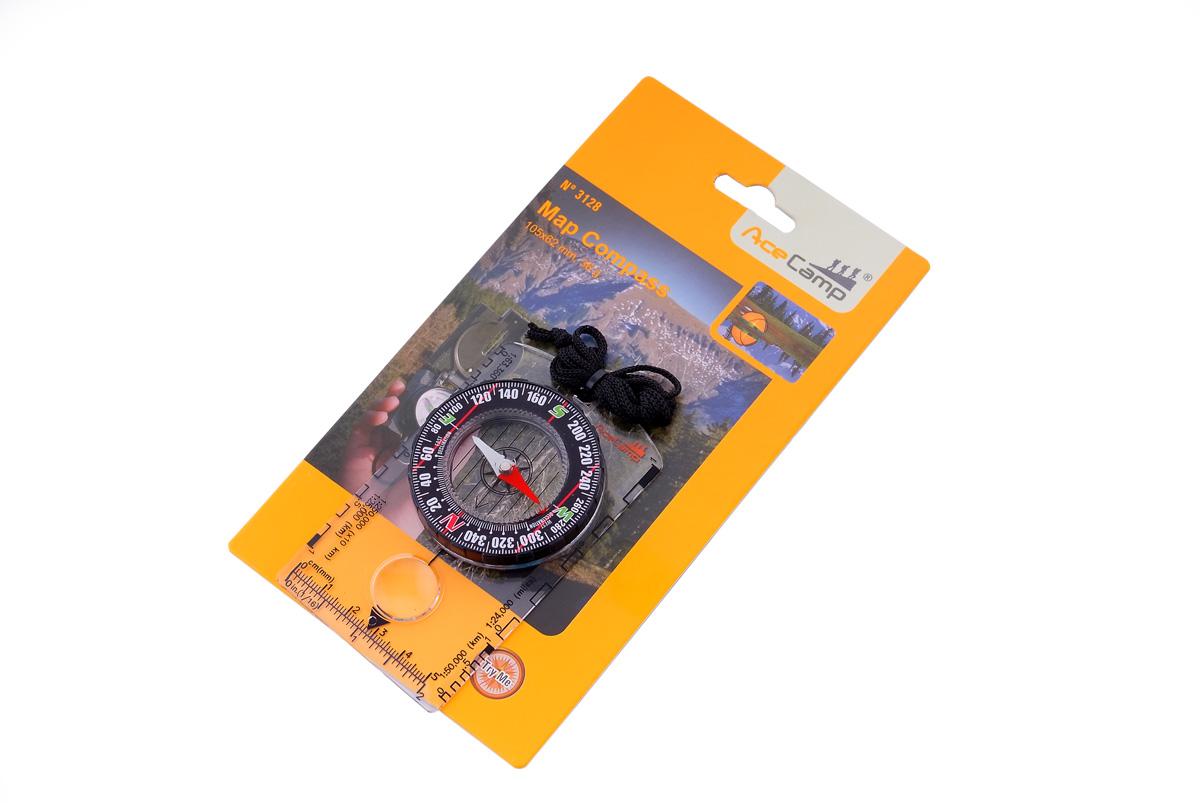 Компас  AceCamp  картографический, цвет: прозрачный. 3128 - Компасы и Курвиметры