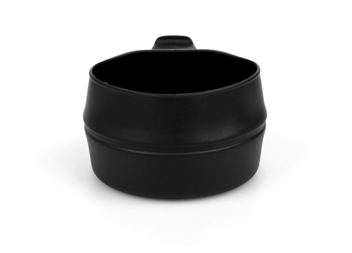 Кружка складная Wildo Fold-a-Cup, портативная, цвет: черный, 0,25 л рамка 3 постовая legrand valena life белая 754003