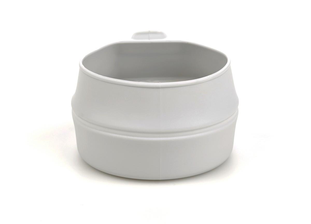 Кружка складная Wildo Fold-a-Cup, портативная, цвет: светло-серый, 0,25 л набор походной посуды wildo camp a box complete портативный цвет серый синий 7 предметов