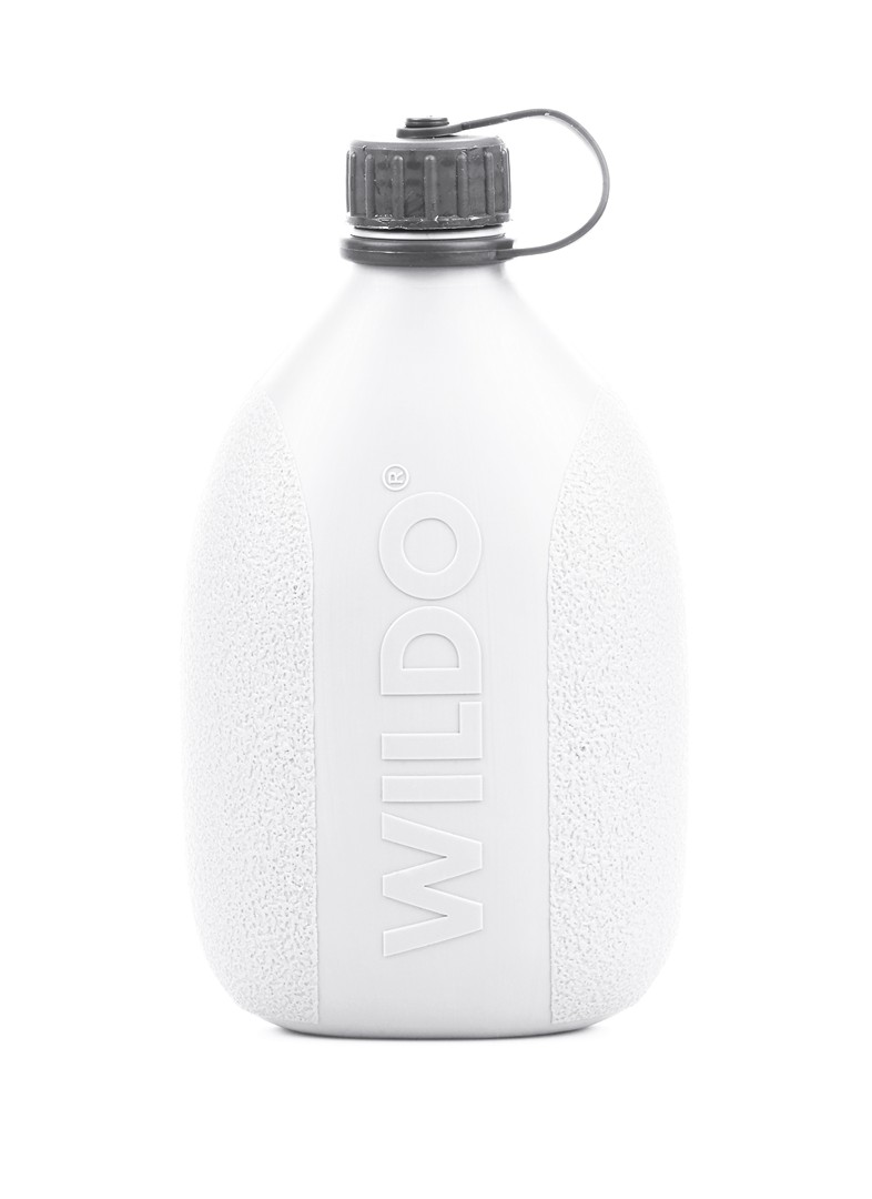 Фляга Wildo Hiker Bottle, цвет: белый, серый, 0,7 л тележка для фляги в твери