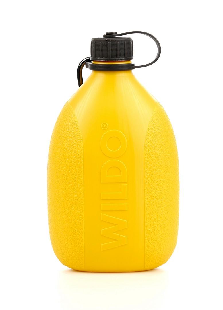 Фляга Wildo Hiker Bottle, цвет: лимонный, черный, 0,7 л wildo