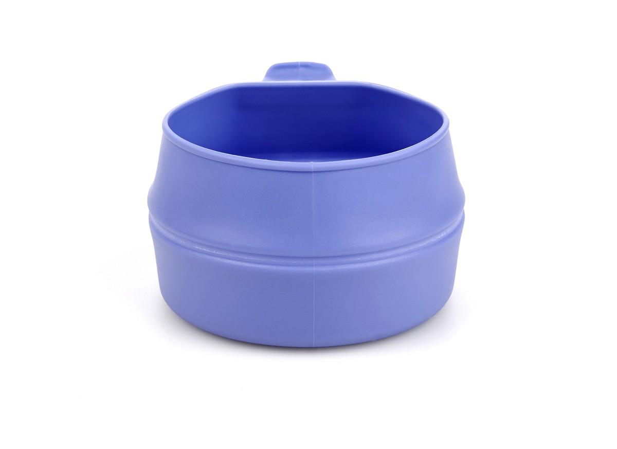 Кружка складная Wildo Fold-a-Cup, портативная, цвет: черничный, 0,25 л набор походной посуды wildo camp a box complete портативный цвет серый синий 7 предметов