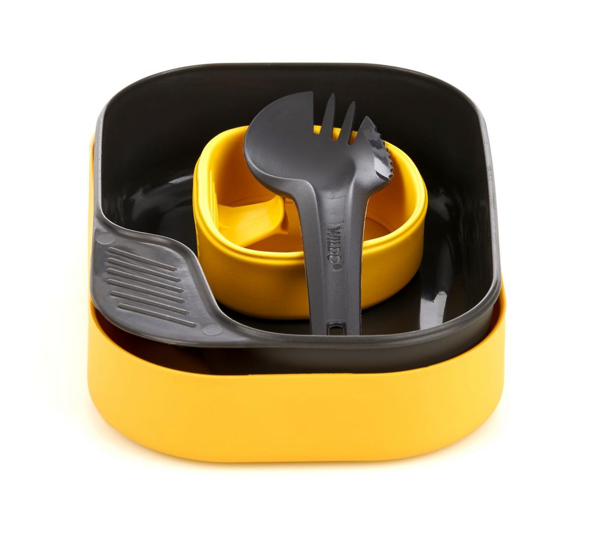 Набор походной посуды Wildo Camp-a-Box Light, портативный, цвет: лимонный, 4 предмета wildo
