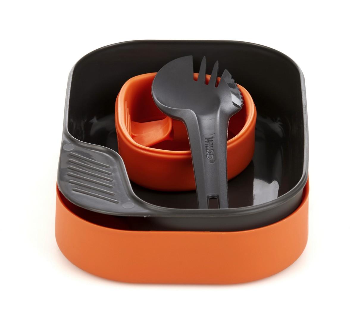 Набор посуды Wildo Camp-a-Box Light, портативный, цвет: оранжевый. W20262