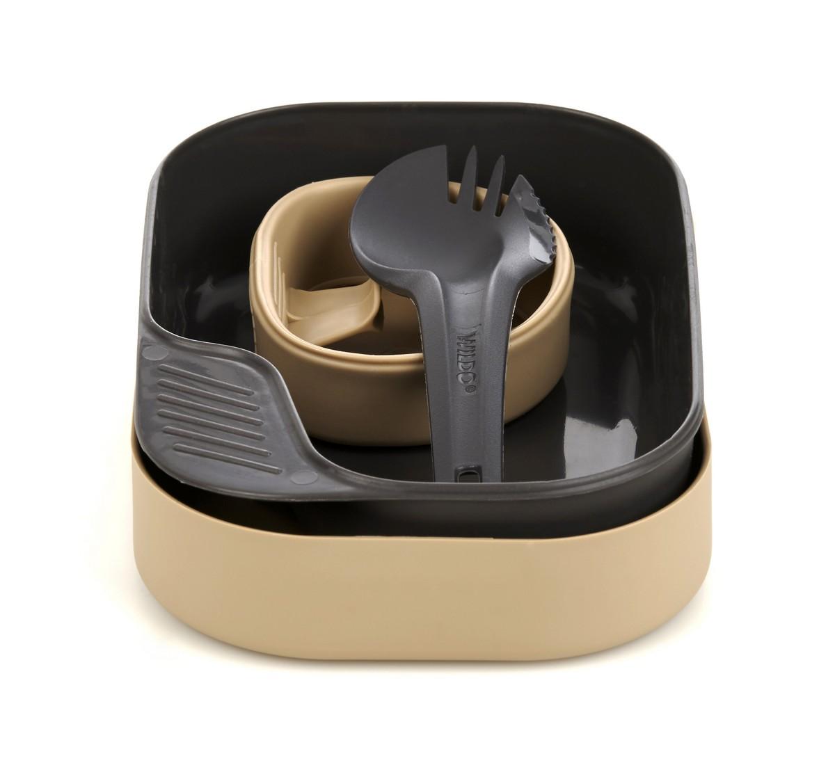 Набор походной посуды Wildo Camp-a-Box Light, портативный, цвет: песочный, 4 предмета wildo