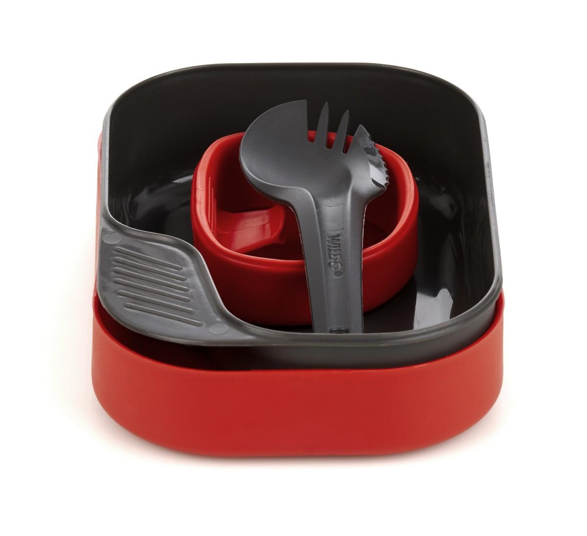 Набор посуды Wildo Camp-a-Box Light, портативный, цвет: красный. W20268 набор походной посуды wildo camp a box complete портативный цвет серый синий 7 предметов