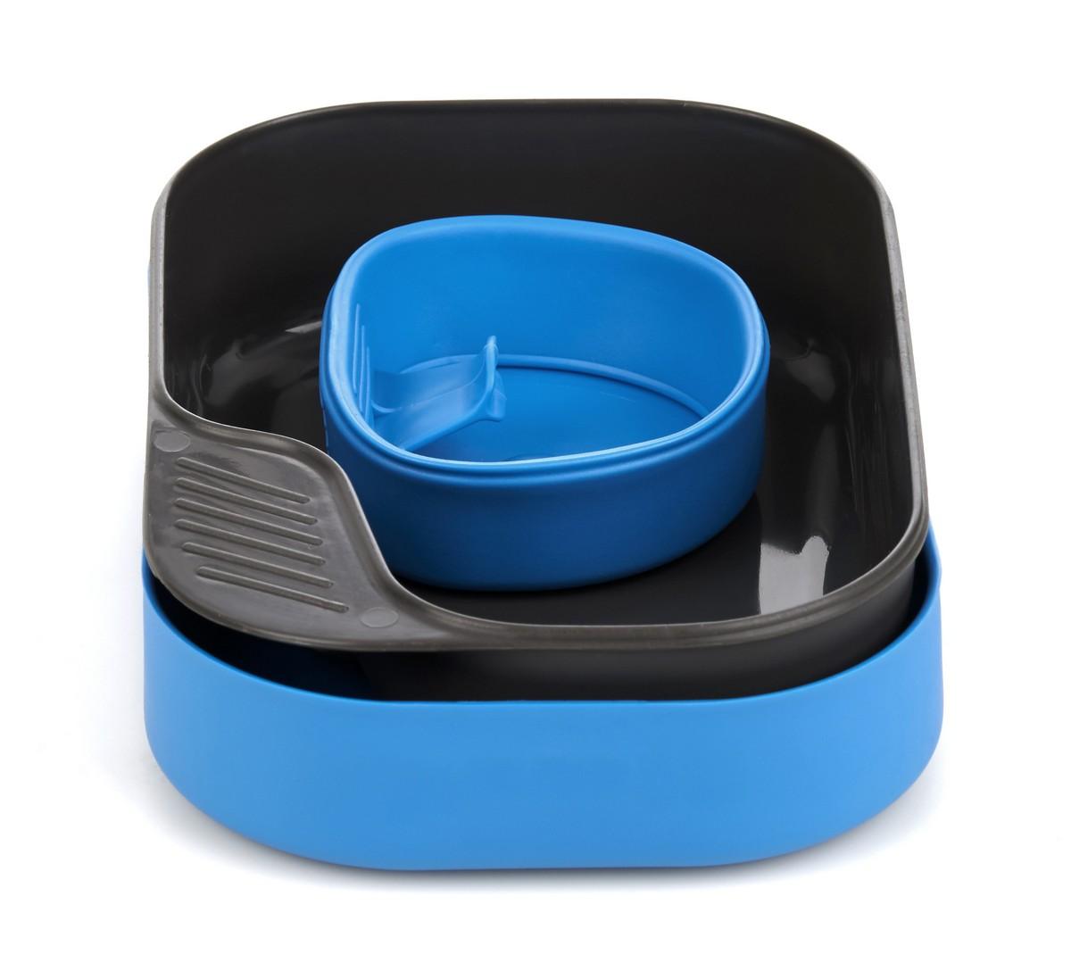 Набор походной посуды Wildo Camp-a-Box Basic, портативный, цвет: светло-синий, 3 предмета