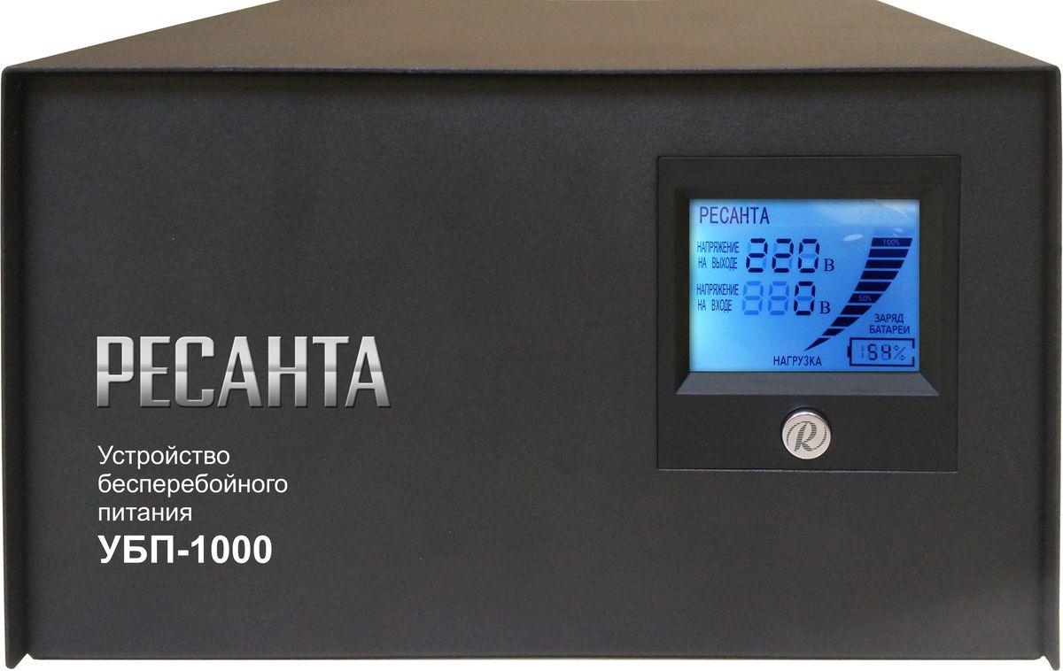 Устройство бесперебойного питания Ресанта УБП-1000 защита от скачков напряжения 220в