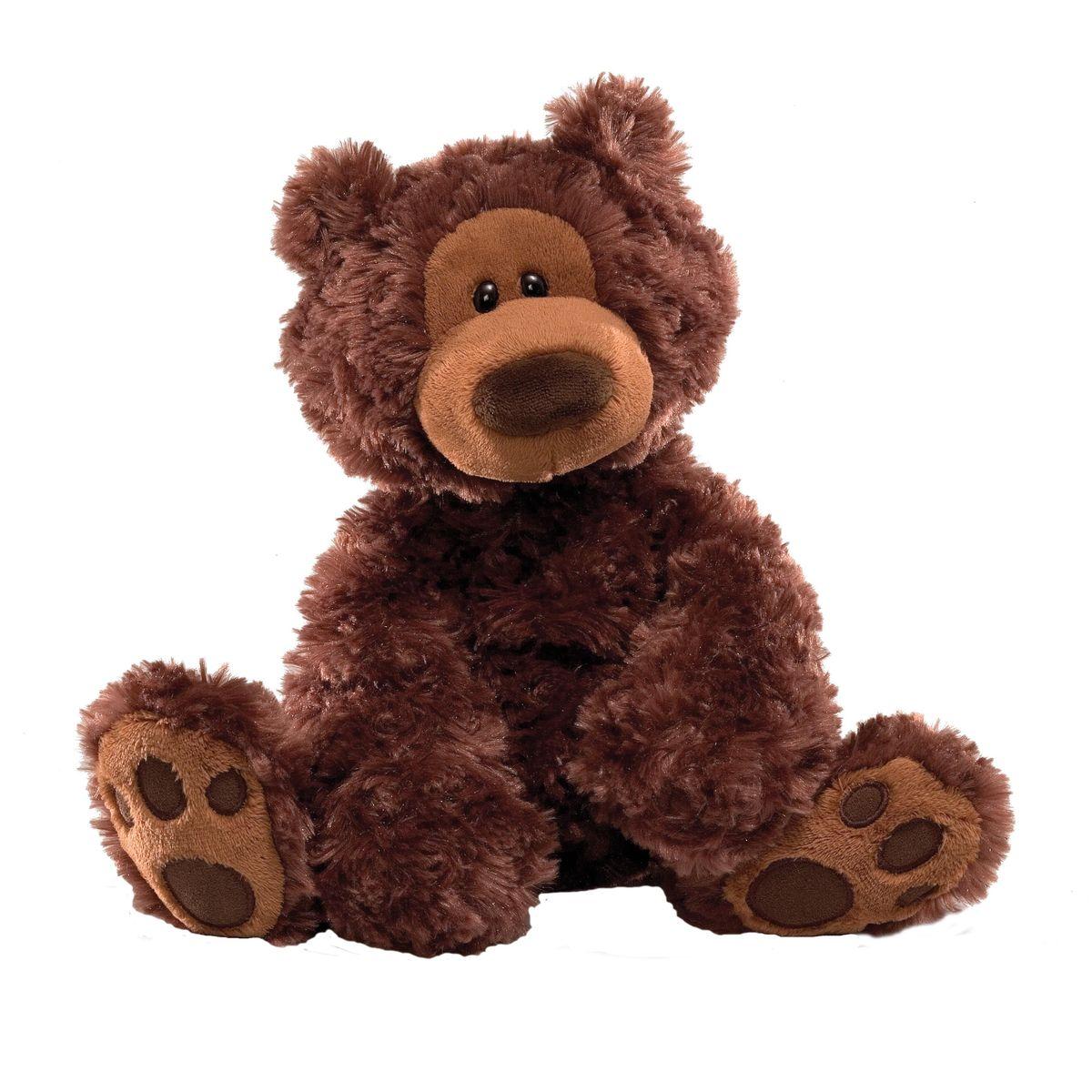 Gund Мягкая игрушка Philbin Bear Chocolate 33 см малышарики мягкая игрушка собака бассет хаунд 23 см