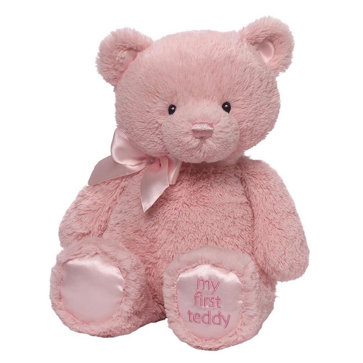 Gund Мягкая игрушка My First Teddy Medium Pink 38 см teddy мягкая игрушка собака в голубом пиджаке 18 см