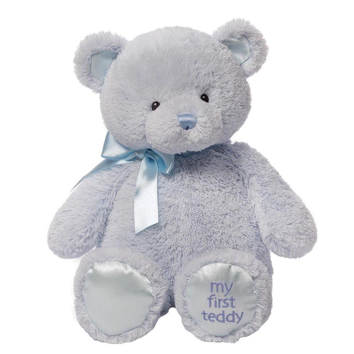 Gund Мягкая игрушка My First Teddy Large Blue 45,5 см teddy мягкая игрушка собака в голубом пиджаке 18 см