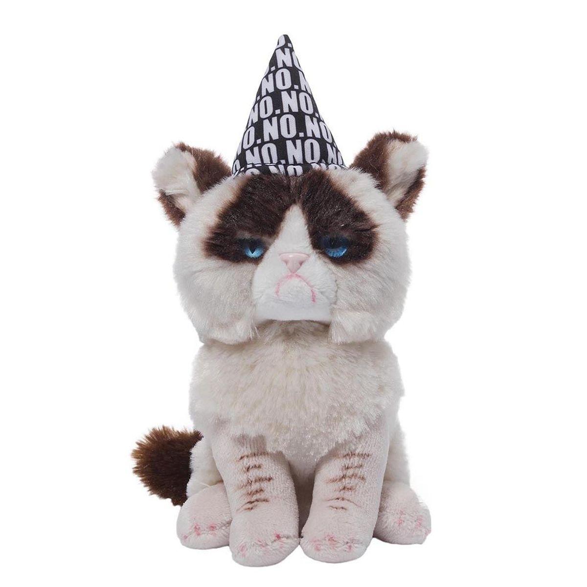 Gund Мягкая игрушка Grumpy Cat Birthday Beanbag 12,5 см gund мягкая игрушка grumpy cat 23 см