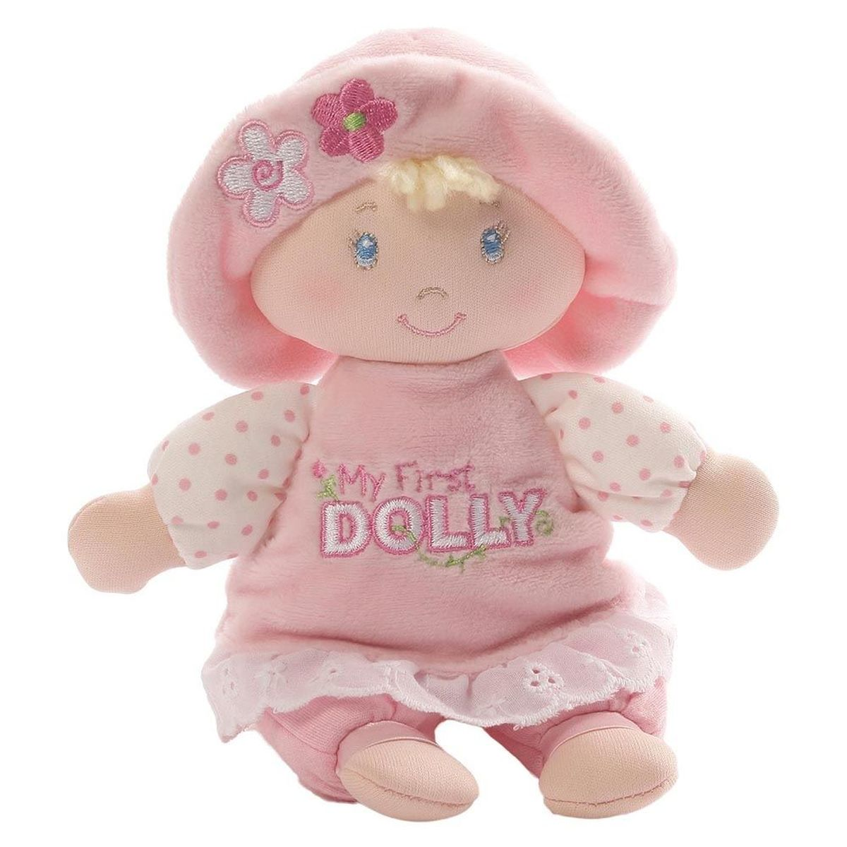 Gund Мягкая игрушка My First Dolly Small Blonde Rattle 18